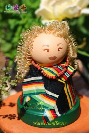 Native sunflower doll